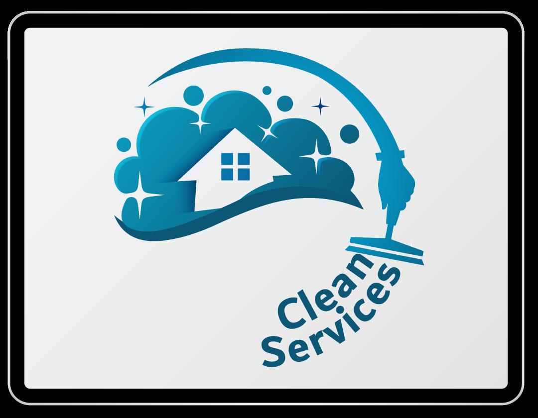 Imaginea ilustreaza logo-ul companiei Clean Services