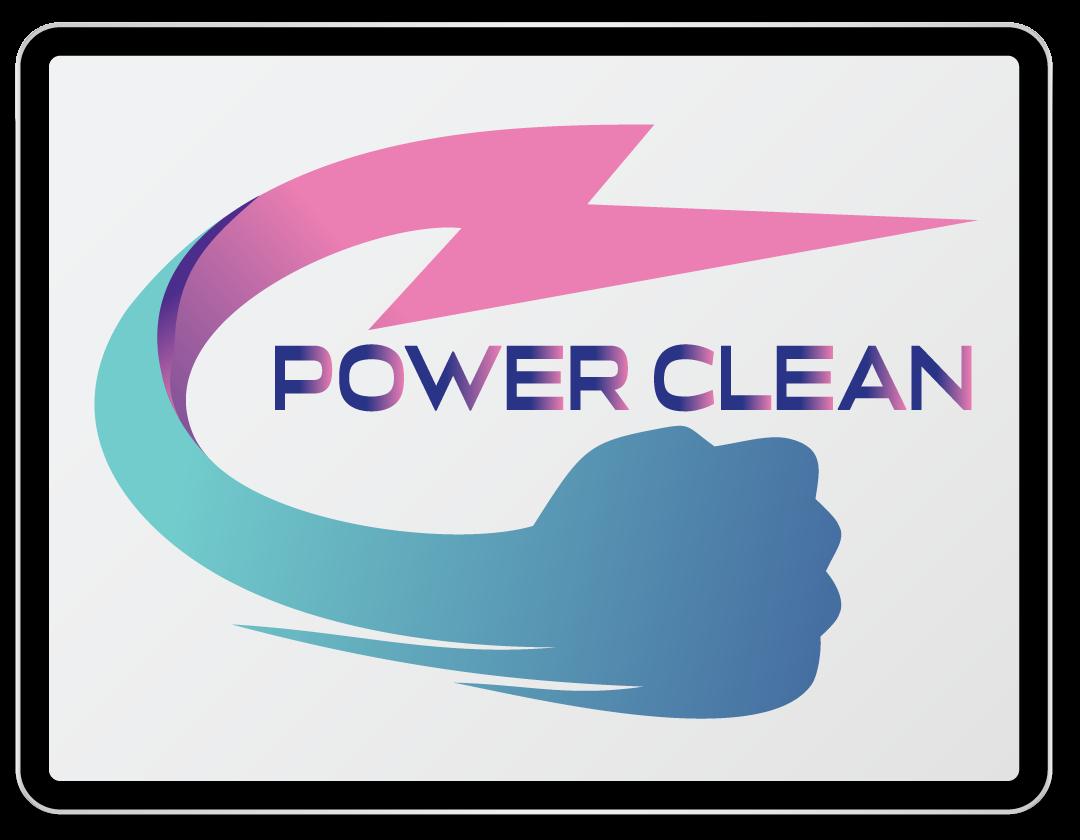 Imaginea ilustreaza logo-ul companiei Power Clean