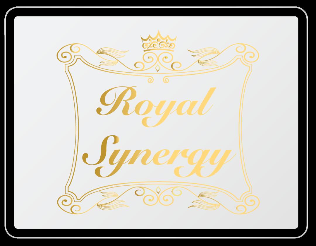 Imaginea ilustreaza logo-ul companiei Royal Synergy.