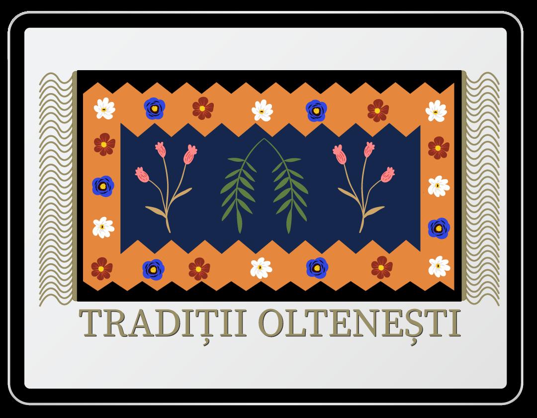 Imaginea cuprinde logo-ul companiei Traditii oltenesti.