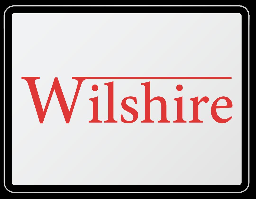 Imaginea ilustreaza logo-ul companiei Wilshire.