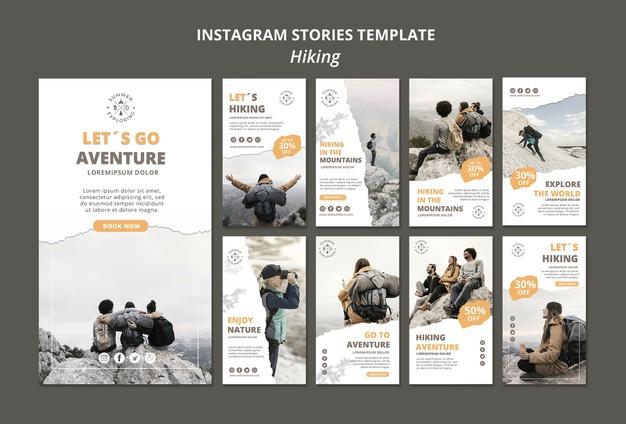 Exemplu de template de poveste pe Instagram pentru calatori